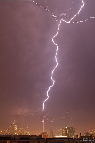 Lightening on CN Tower