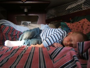 The Boy Napping in V-Berth