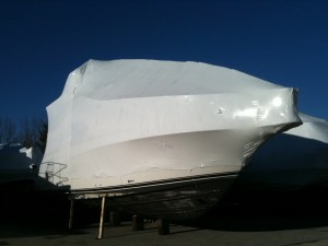 Wrapped boat.